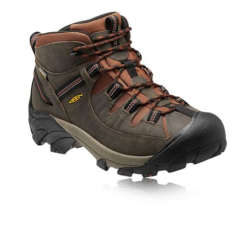 mens mid hiking boots keen targhee ii mid mens brown outdoors walking boots