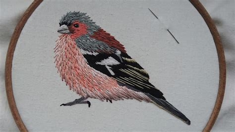 embroidery bird 2 embroidery chaffinch stitching a bird