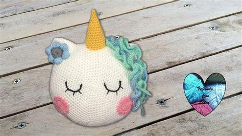 almohadas de unicornio coj 237 n unicornio tejido a crochet paso a paso almohadones