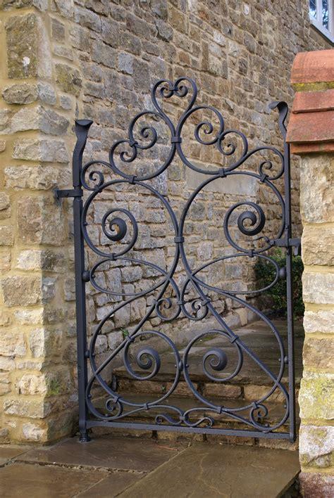wrought iron gate burrows lea forge forged ironwork uk based artist blacksmith tv set decoration