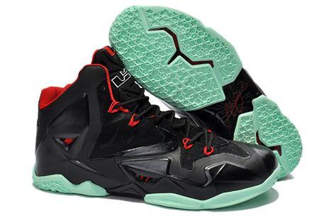 cheap nike lebron 11 black green shoes cheap lebron