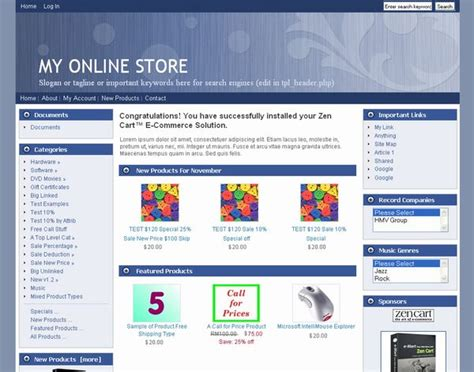 free zen cart templates zen cart templates themes skins free 1 5 4 1 5 3 1 5