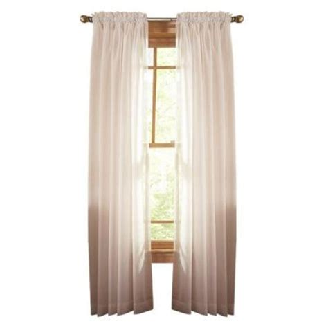 home depot curtain panels martha stewart living heavy cream fine sheer rod pocket