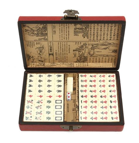 with 144 tiles portable vintage mahjong 144 tiles mah jong