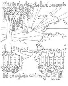 Psalms Coloring Pages psalm 118 24 color page sunday school god