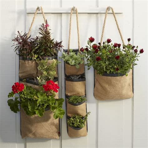 Hanging Bag Planters West Elm West Elm Wall Planter