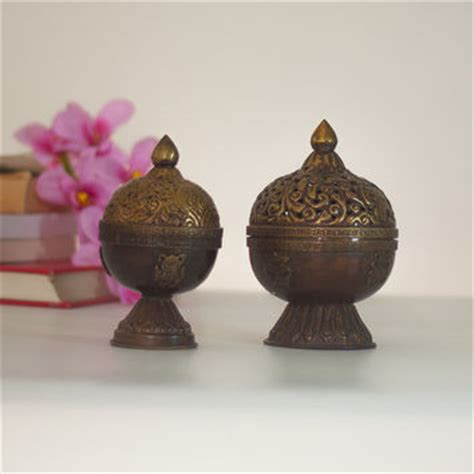 Made In India Home Decor by Brass Incense Burner Lantern Vintage From Cozy Traditions