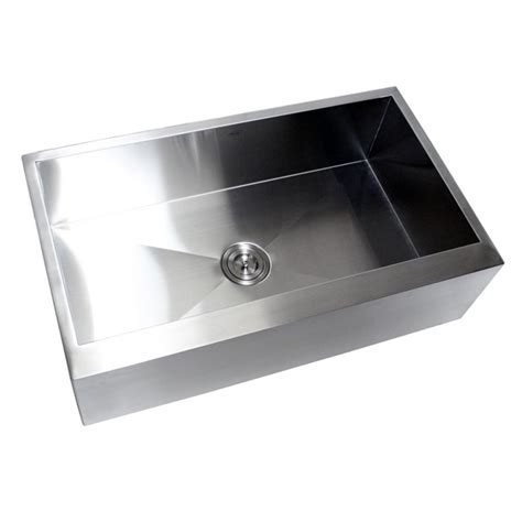stainless steel farmhouse sink single bowl 36 inch stainless steel single bowl flat front farm apron