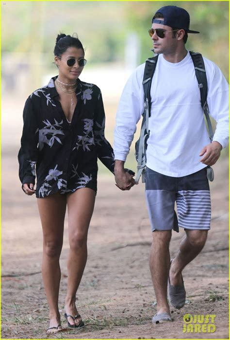 zac efron hands zac efron girlfriend sami miro embrace each other in