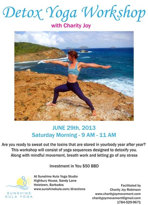 Charity Detox by In Barbados Detox Workshop With Charity