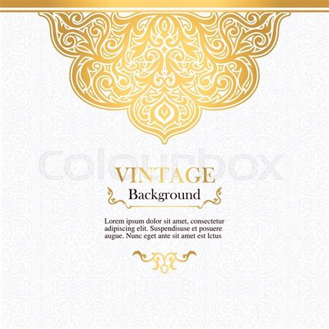 invitation card border design vector vintage vector card in islamic style seamless lace