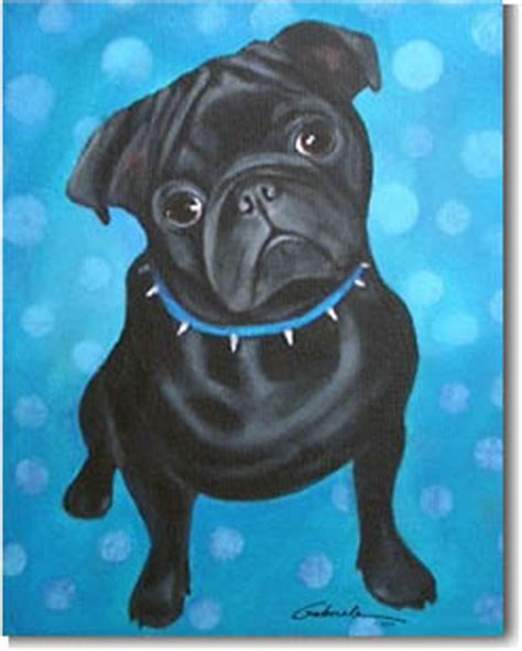 black pug painting pug prints posters paintings pugs dogbreed gifts