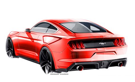 mustang drawing 2015 ford mustang carbontek