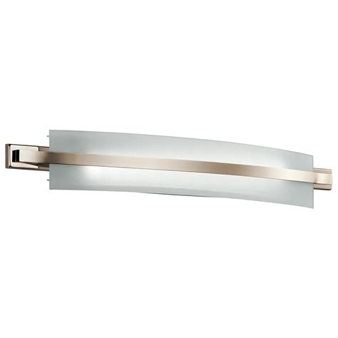 Led Bath Bar Lighting Kichler Freeport Polished Nickel 36 Inch Two Light Led