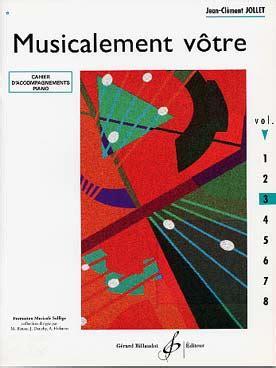 0043046606 livre de melodies volume partition musicalement votre volume 3 accompagnements