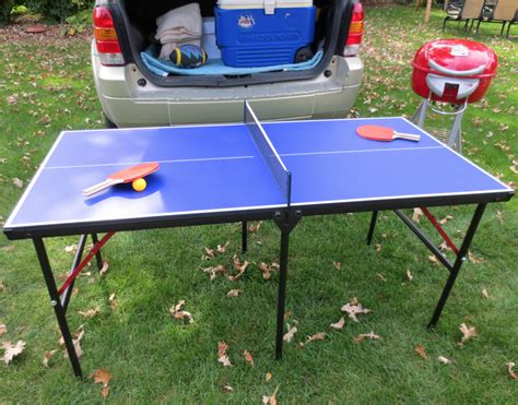 hathaway crossover portable table tennis table 60 with paddle set carmelli crossover 60 quot portable tailgating ping pong table