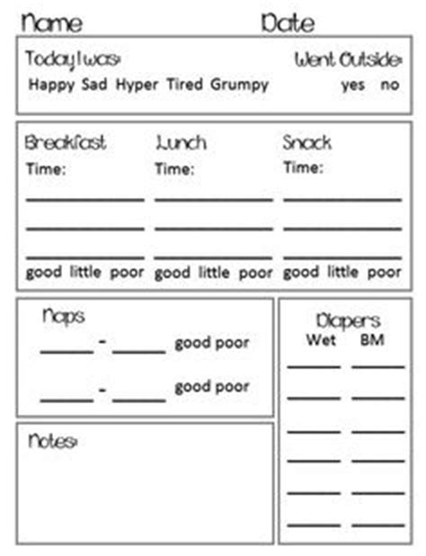1000 ideas about preschool daily report on pinterest
