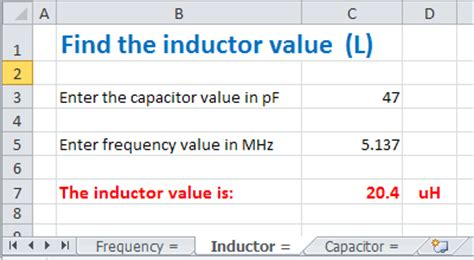 hb9amo find the value of a capacitor or an inductor with
