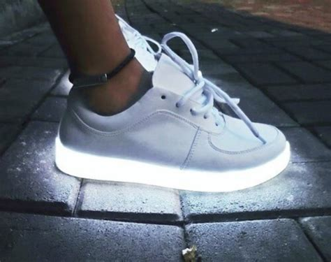 sneakers with lights on the bottom shoes white light light up white shoes light white