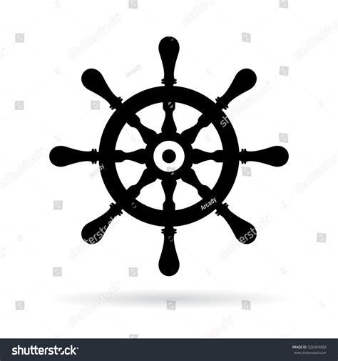 boat steering wheel icon ship steering wheel vector icon boat stock vector