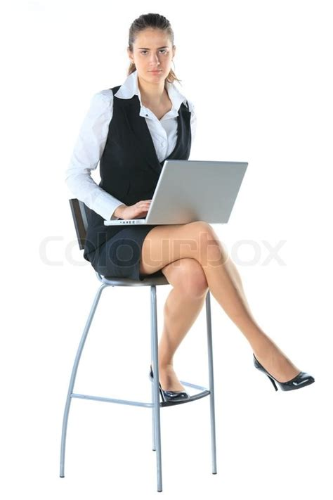 High Chair That Sits In Chair by Business Sitting On A High Chair And Works On The