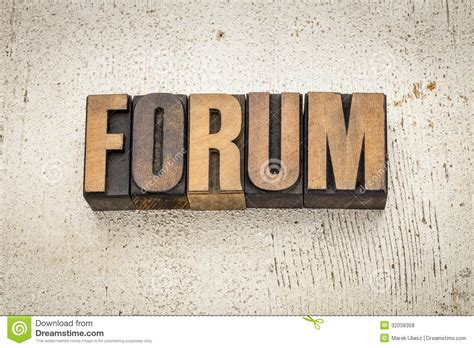 Word For Barn Forum Word In Wood Type Royalty Free Stock Photos Image