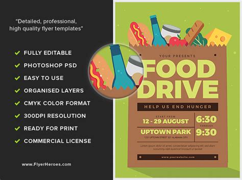 Food Drive Event Flyerheroes Drive Flyer Template Free