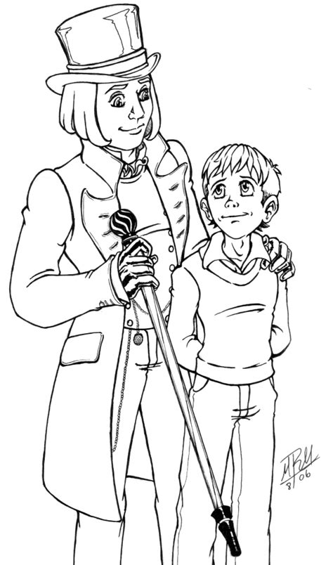 willie wonka free coloring pages