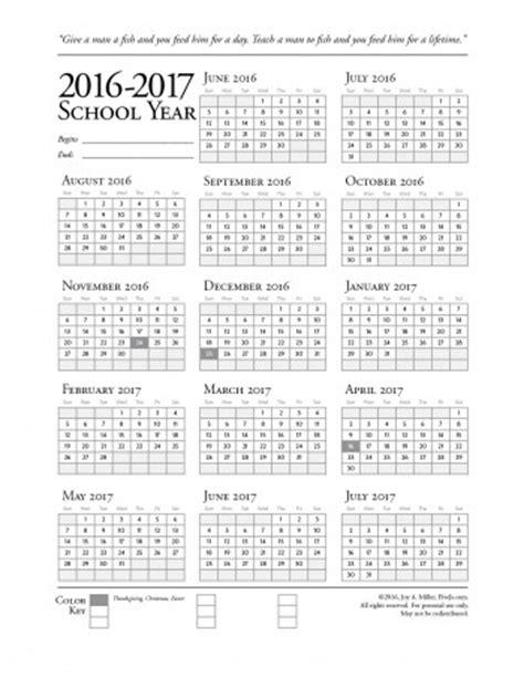 printable calendar 2017 school year homeschool printables downloads five j s homeschool