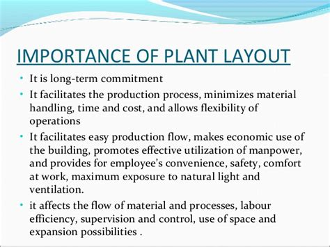 plant layout meaning and objectives plant layout ppt by me