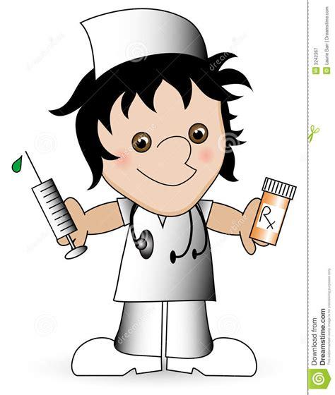 clipart infermiera infermiera fumetto illustrazione di stock