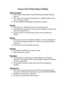 Science Project Written Report Sample Project Report Writing Format For Students National