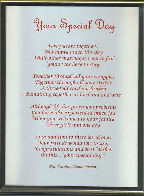 Wedding Anniversary Poems For Parents by 1000 Images About Anniversary Poems On Happy