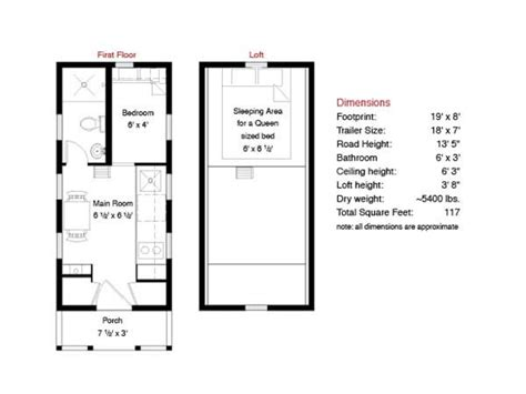 Tiny Home Layouts by Free Tiny House Floor Plans 500 Sq Ft Tiny House Floor