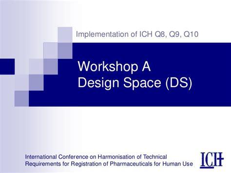 design space ich q8 definition workshop a design space
