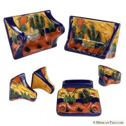 Mexican Tile All Southwest Porcelain Bathroom Mexican Bathroom Accessories