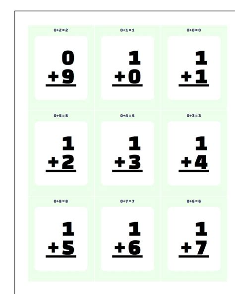 Printable Math Flash Card Template by Worksheet Printable Flash Cards Discoverymuseumwv