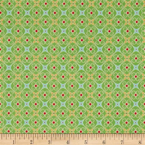 Fabric Paper - cozy wrapping paper green discount