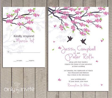 Mind Blowing Cherry Blossom Wedding Invitations Cherry Blossom Invitation Template