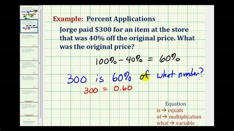 ex find the original price given the discount price and