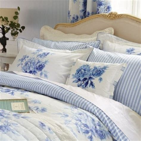 shabby chic bedding blue and white