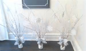 The portico winter wonderland centerpieces with diy quot icy branches