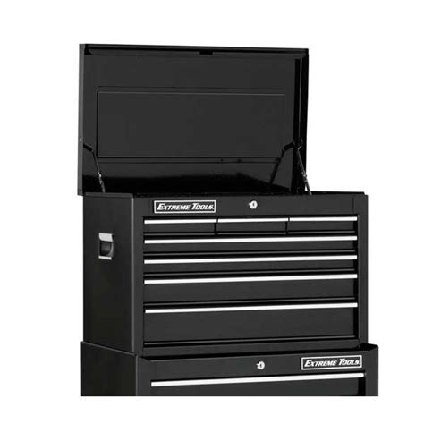 7 drawer chest black extreme tools ex2607chbk 26 black 7 drawer top chest
