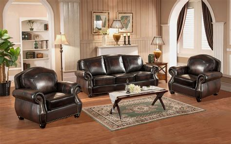 hyde brown leather living room set c9701s2889ls amax leather