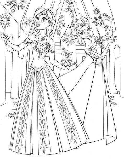 Sketsa Baju Elsa coloriage reine des neiges pour les 2 ans du dessin anim 233 frozen