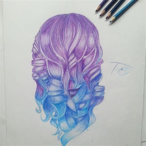 Colorful Hair Drawing