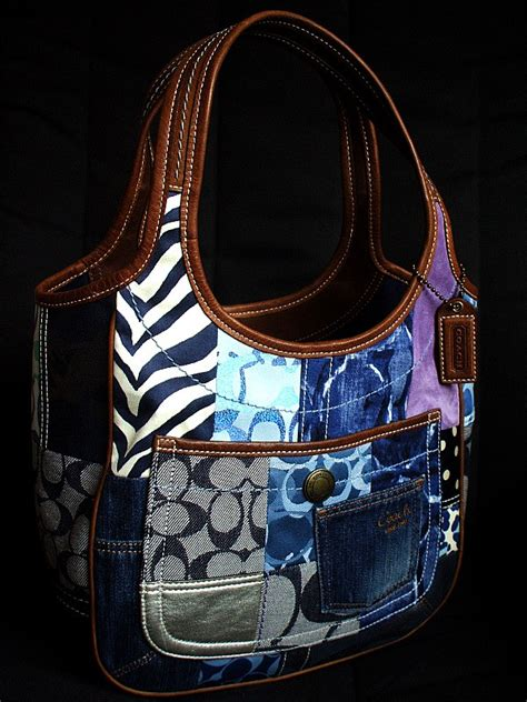 Coach Ergo Patchwork Tote by Shopdotbags Coach Indigo Denim Ergo Patchwork Tote Bag