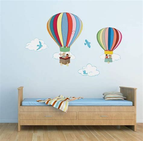 kids room wall hot air balloons wall stickers by belle boo