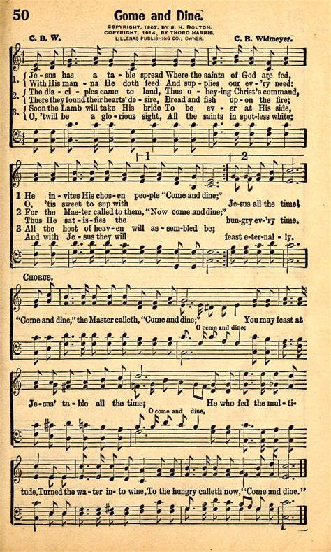 come to the table hymn great gospel songs 50 jesus has a table spread hymnary org