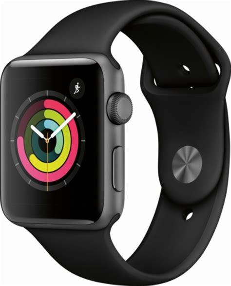 Apple Series 3 42mm Pre Order apple apple series 3 gps 42mm space gray aluminum with black sport band gray